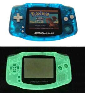 Night Light Blue Game Boy Advance Console w/ AGS-101 Brighter Backlight Screen