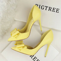 New Women's Stiletto High Heel Shoes Sexy Pointed Toe Wedding Party Heels Pump