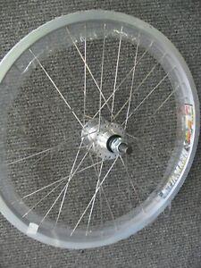 "20"" Weinmann DM30 REAR BMX Bike Wheel 14mm 9/16"" Axle Double Walled Aluminum NEW"