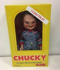 Mezco Child's Play Talking Sneering Chucky Doll New in Box 15 inch tall !!!!!!