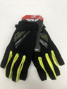 Fly Racing Title Gloves Black/Hi-Vis SZ 11 XL 371-04911 Open Packaging