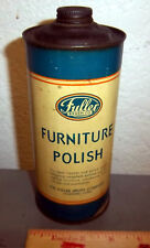 vintage Fuller Furniture Polish tin, cone top style container, great colors