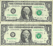 2013 and 2017 One Dollar US Federal Reserve STAR Notes Lot Of 2 VG-F Condition