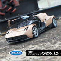 Pagani Huayra Gold SuperSports Car Model 1/24 Scale Alloy Metal Collection Welly