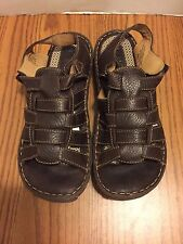 BORN Brown Leather Shoes Strappy Sport Sandals Fisherman Women's 10 42