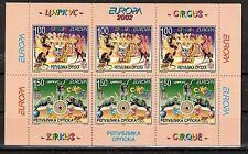 CEPT, Europa 2001 B&H Serbische Republik Mi 241/242 im H-Blatt 5 **, KW 18,00€