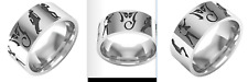 MICHAEL JACKSON - BAGUE MJ - 4 POSTURES - TAILLE 8 - STAINLESS STEEL MJ RING