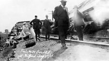 "Photo 1917 Gilford Ontario ""Train Accident"""