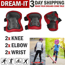 Knee Elbow Wrist Pads Inline Roller Skate Bike Protective Pad Set for Kids Child