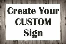 More details for personalised custom made plastic sign board indoor and outdoor use