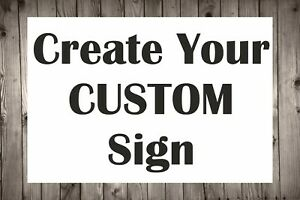 Personalised Custom Made Plastic Sign Board Indoor And Outdoor Use