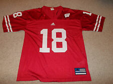 VTG-2000s Wisconsin Badgers Adidas Football Youth XLarge Jersey