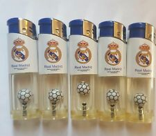 Brand New Lot of 5 Fc Real Madrid Lighters Unused With Ball Inside Refillable