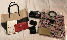 Mary Kay CONSULTANT BAG Customer Gifts  Beach Tote Journal Makeup Case 8 Pc Lot
