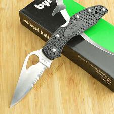 Spyderco Byrd Meadowlark 2 8Cr13MoV Black FRN Handle Lockback Knife BY04PSBK2