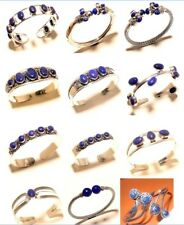 Lapis Lazuli 925 Silver ( Plated ) Bangle Cuff Bracelet Jewelry Dec2