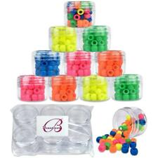 12 Pieces Beauticom 30G/30ML Clear Plastic Refillable Jars with Clear Round Lids