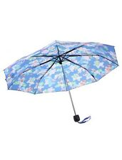Disney Lilo & Stitch Scrump Print Blue Compact Umbrella New With Tags!