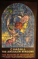 Chagall The Jerusalem Windows Museum Modert Art Poster 1962