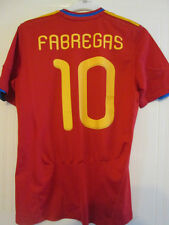 España 2010-2011 Fábregas 10 Home Football Shirt Tamaño Mediano / 35266