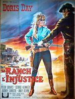 Plakat Kino Original Western Le Ranch Von L'Injustice Doris Day 120 X 160 CM