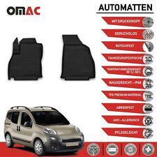 Fußmatten für Fiat Fiorino Qubo 2008-2021 Passform Hoher Rand Gummi Schwarz 2tlg