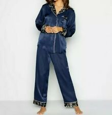 B by Ted Baker-Navy Personalised 'A' Satin Pyjama Set. Size 8-10