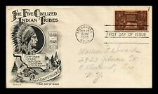 DR JIM STAMPS US INDIAN CENTENNIAL FDC COVER SCOTT 972 SEALED FLEETWOOD