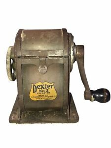 Vintage Dexter No.3 Hand Pencil Sharpener Made in the USA Chicago Great Shape