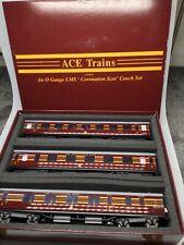 More details for ace trains(c/28-a)'o' gauge,coronation scot 3 coach set,maroon,boxed