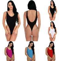 Women Sheer Lingerie Leotard Bikini Bodysuit Thong Monokini Swimwear Beachwear