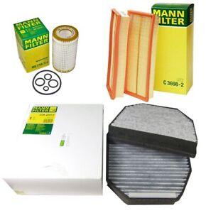 Mann Oil Air Carbon Cabin Filter Service Kit for Mercedes-Benz  R230 SL500 SL550