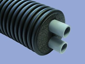 Pre Insulated Twin Pipe 3m long 63mm diameter internal pipe