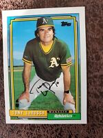 1992 Topps Tony LaRussa #429 - Oakland Athletics - Autographed!