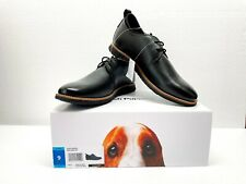Hush Puppies Men's Colby Oxford Black Leather Sneakers Dress Shoes - NEW W/ Box