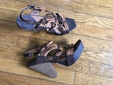 1a77fe28aa2 WORN ONCE LUCKY BRAND WOMAN S SHOES HEELS SANDALS BROWN SIZE 9 GREAT COND