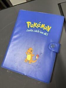 Vintage Pokemon 4 Pocket Blue Charmander Binder Card Storage Album