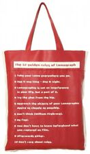 Lomography Sling-on Tote Bag Red Soft Synthetic Leather Shopping Collage