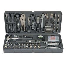 NEW! PITTSBURGH 130 PC TOOL KIT WITH CASE INC. HOME REPAIR KIT WARRANTY INC