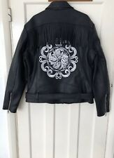 ZARA SPECIAL EDITION FAUX LEATHER EMBROIDERED BIKER JACKET SIZE XL BNWT RRP£119