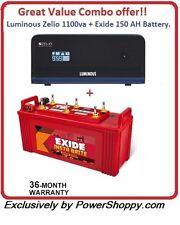 Luminous combo  Zelio 1100va Home ups + Exide 150 AH battery Great Combo offer