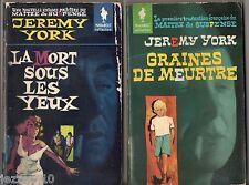 LOT 2 JEREMY YORK # GRAINES DE MEURTRE/LA MORT SOUS LES YEUX # MARABOUT