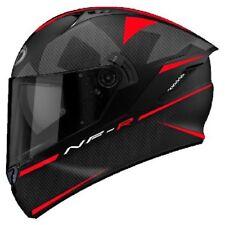 Casco integrale moto KYT NFR Logos nero opaco rosso helmet Taglia Size M
