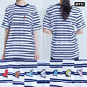 BTS BT21 Official Authentic Goods Short Sleeve Stripe T-Shirts Blue by Hunt