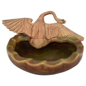 Weller Pottery Muskota 1913-1920s Goose With Wings Spread Bowl