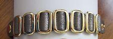 New Metallic Silver Leather Snap closure Rocker Bracelet Wrist Band cuff gold