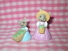 Merry Miniatures 1991 Easter Mother & Daughter Bunny pair Hallmark
