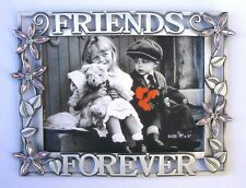 """7""""x5"""" 'Friends Forever' w/Acrylic Flower 4mm Crystals Photo Frame(Item # 153)"""
