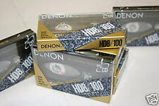 Lot of Denon HD8-100 Metal Particle Audio Cassette Tapes New