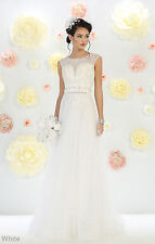 NEW BRIDAL EVENING GOWNS PROM A- LINE FORMAL WEDDING DESTINATION PAGEANT DRESSES
